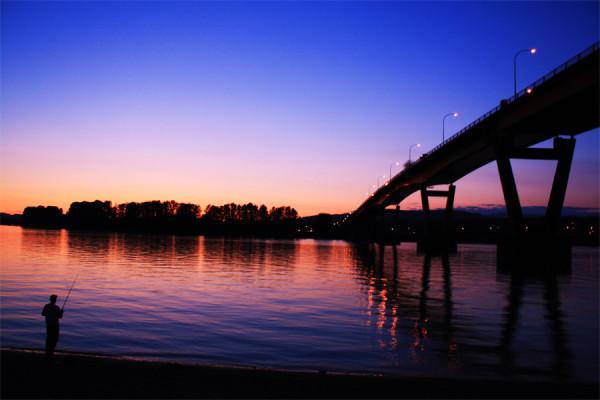 Mission Bridge Sunset