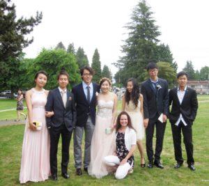 Sally, Yugo, Samuel, Daphne, Flora, Mark, Jack & Terri